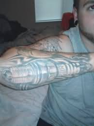 Car Tattoo On Elbow