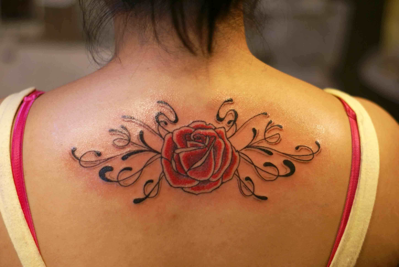 Rose Tattoos On Back Hip Derick Tattoo