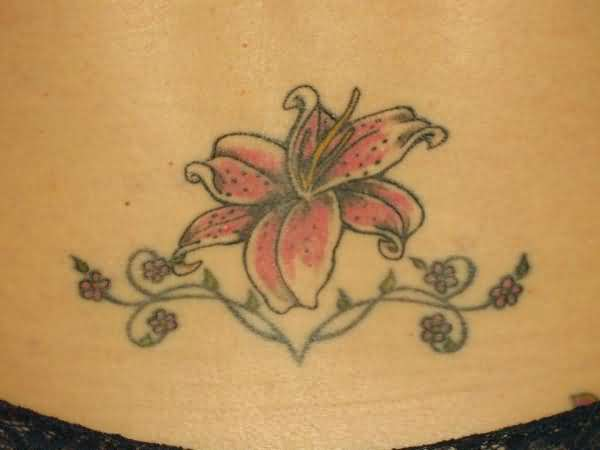 Lily And Vine Tattoo