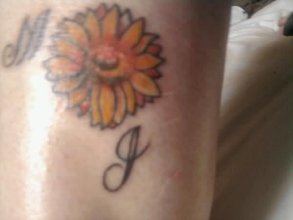 Small Sunflower Tattoo
