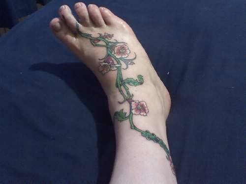 Vine Tattoo For Feet