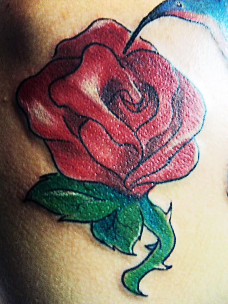 Women Rose Tattoo Design for Party