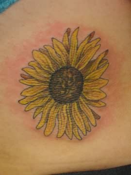 Yellow Sunflower Tattoo Design