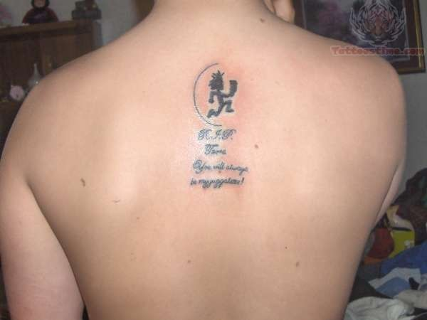 Icp Man Tattoo On Upper Back