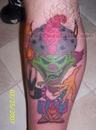 Icp Tattoo For Leg