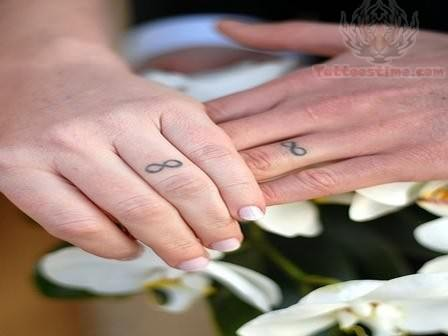 Infinite Tattoo On Fingers