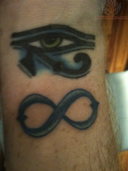 Infinity Symbol And Love Tattoo