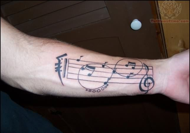 Infinity Symbol And Music Tattoo