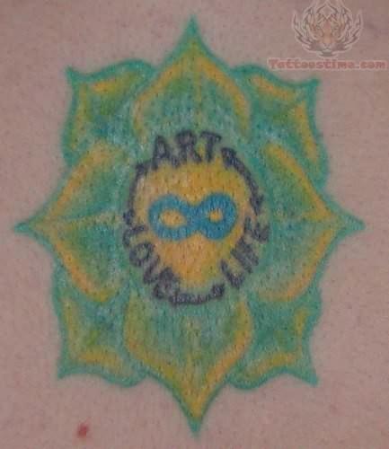 Infinity Symbol Rangoli Tattoo