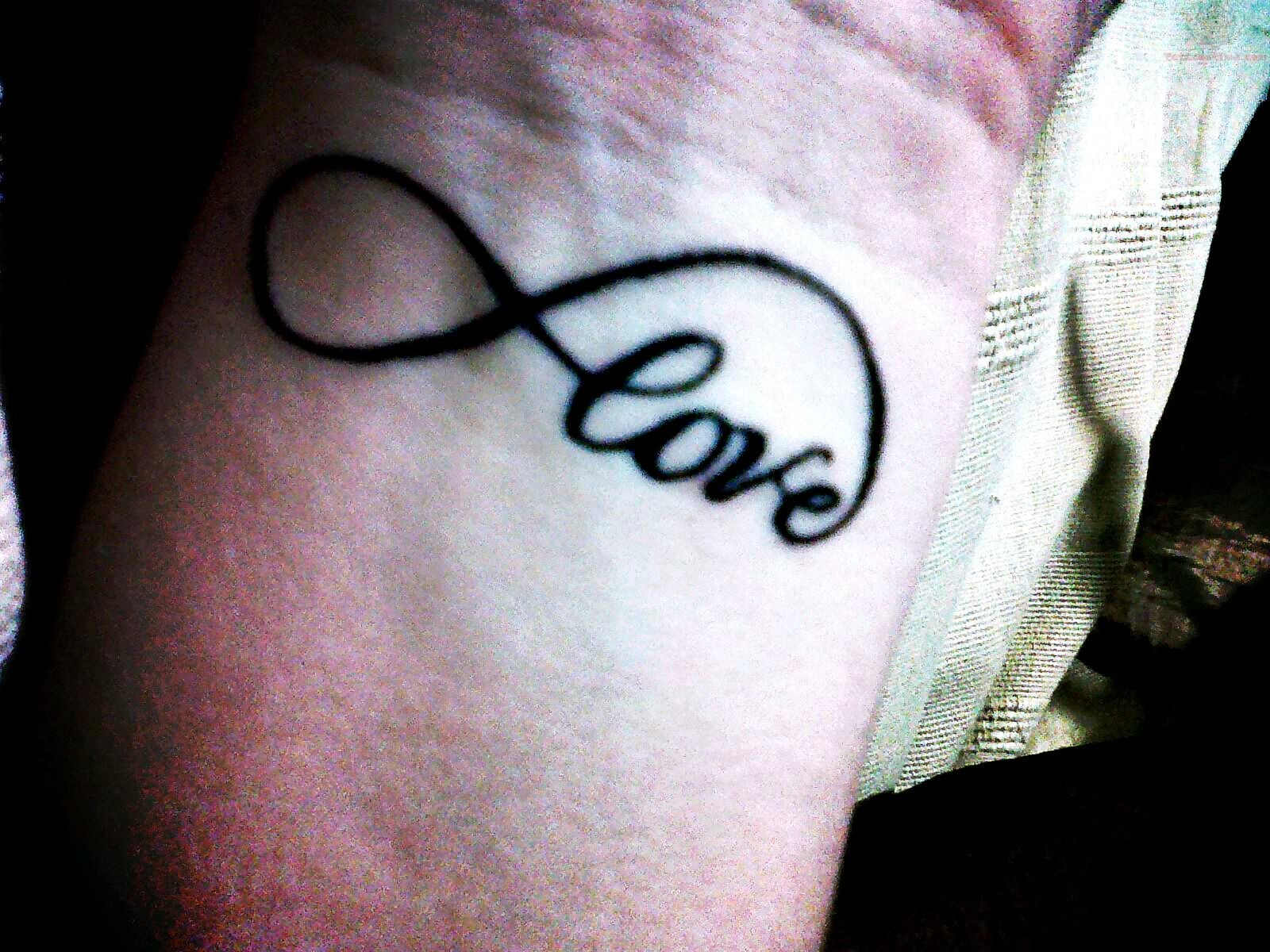 Love Infinity Symbol Tattoo