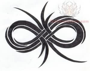 Tribal infinity symbol tattoo design