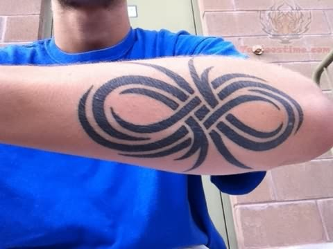 Tribal Infinity Tattoo Design