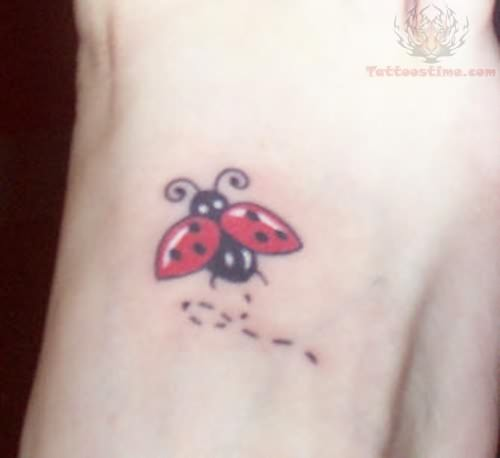 Bug Tattoo for Foot