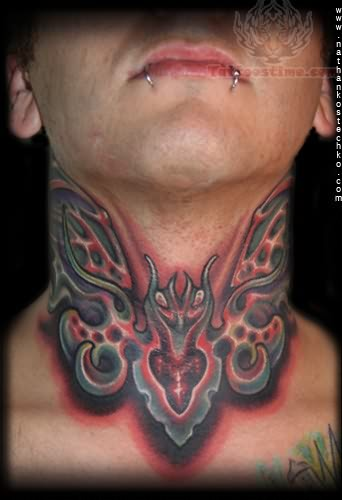 Insect tattoo images designs for Butterfly neck tattoos