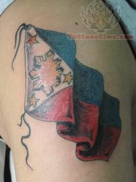 International Flag Tattoo For Shoulder