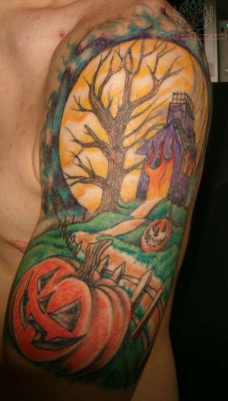 Half Sleeve Irish Tattoo