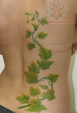Ivy Green Leafs Tattoo