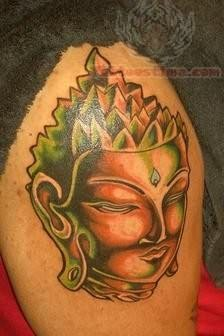 Mahavira Tattoo On Shoulder