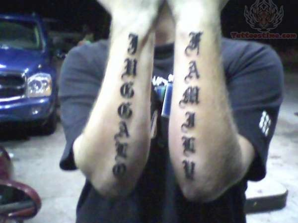 Juggalo Family Tattoo on Arms