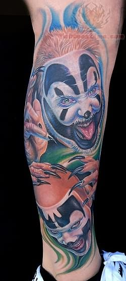 Juggalo Joker Face Tattoo