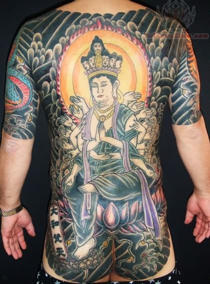 Japanese back body tattoo for Japanese body tattoo