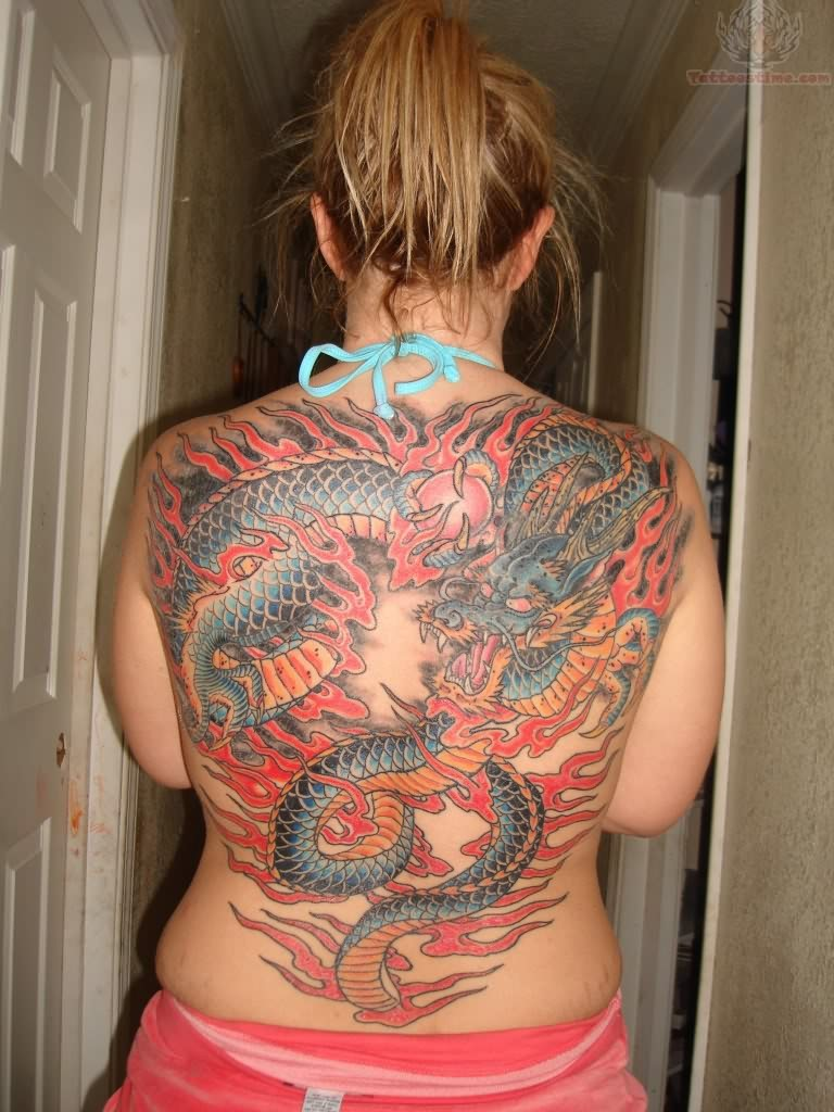 japanese backpiece tattoo picture. Black Bedroom Furniture Sets. Home Design Ideas