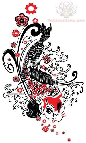 Koifish Japanese Tattoo Designs