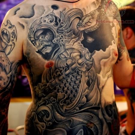 Traditional Japanese Tattoo On Front