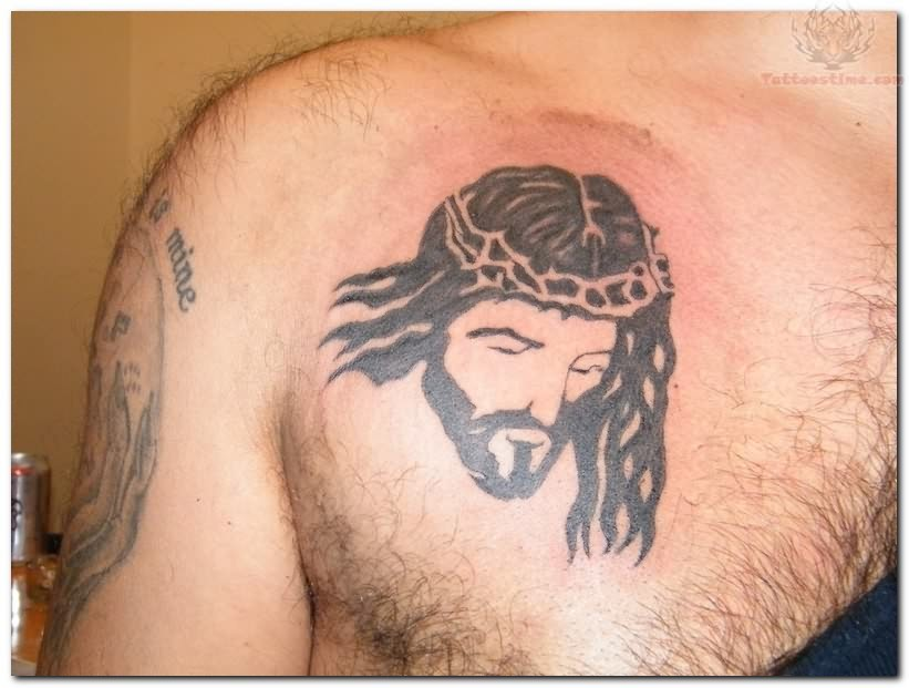 jesus face tattoo on chest. Black Bedroom Furniture Sets. Home Design Ideas