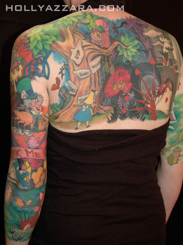 Angry Cartoon Tattoos On Back
