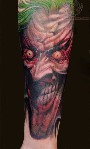 Angry Joker Face Tattoo