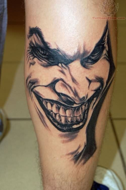 happy joker face tattoo