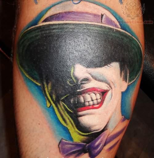 Joker Laughing Face Tattoo