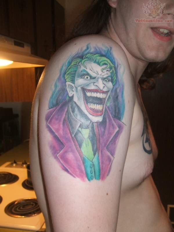 Joker Tattoo On Shoulder