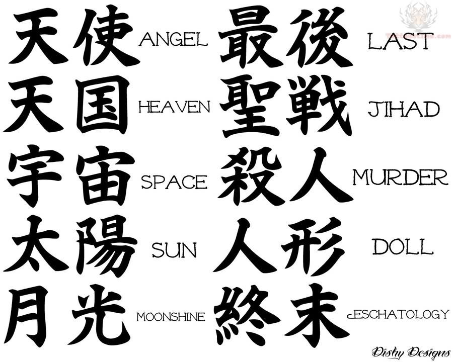 Gothic Symbols and Meanings http://www.tattoostime.com/tattoos/kanji/page/13/