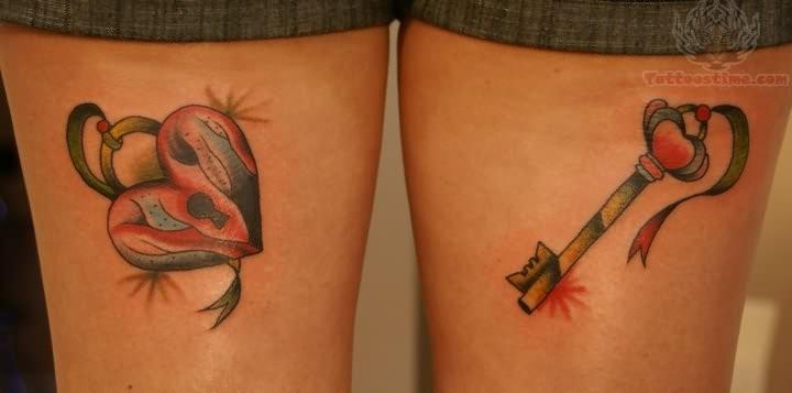 Heart lock key tattoo for Heart lock and key tattoo
