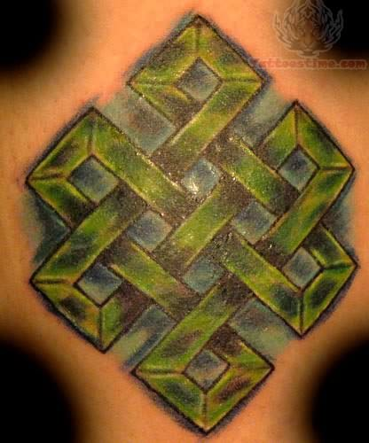 Pin Buddhist Endless Knot Tattoo On Pinterest