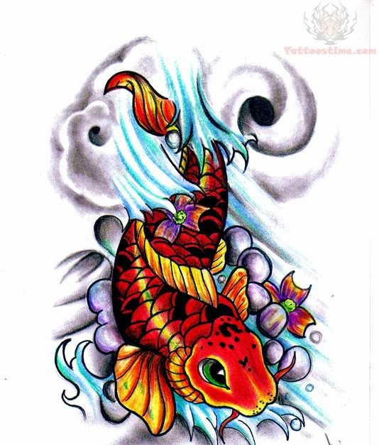 Best Koi Fish Tattoo Sample