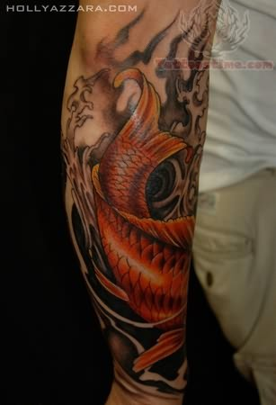 Big Eye Koi Tattoo