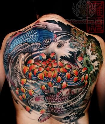 Koi Tattoo Back