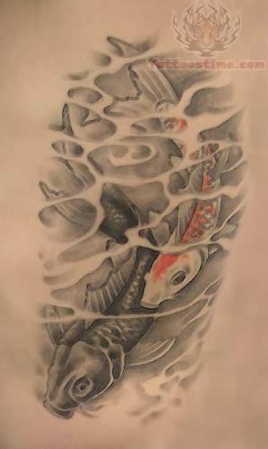 Koi black shade tattoo for How to shade tattoos