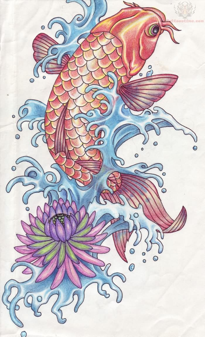 Koi tattoo images designs for Koi fish japanese art