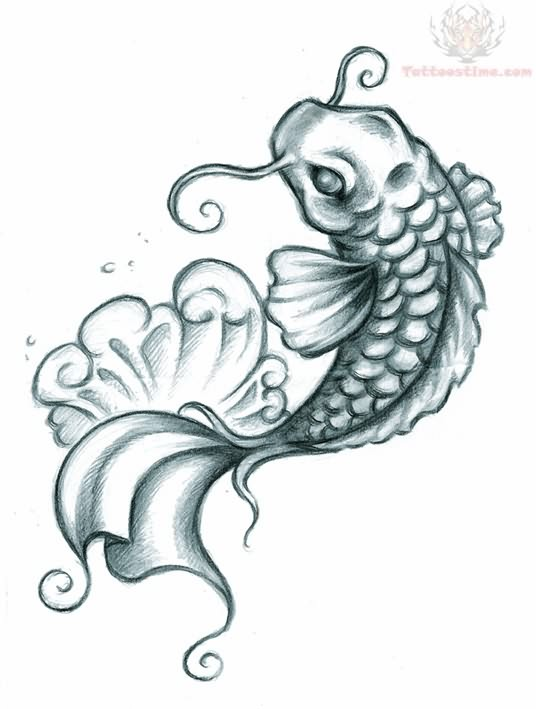 Koi tattoo images designs for Coy fish designs