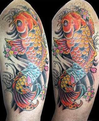 Koi Tattoo Shoulder