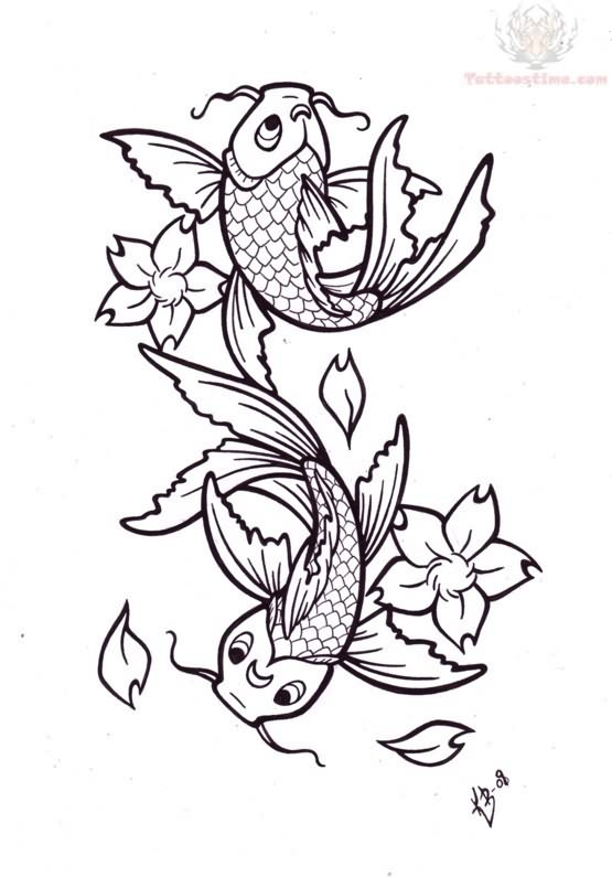 Koi Fish Tattoos Designs
