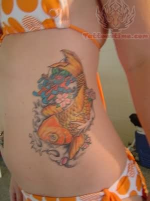 Koi Tattoos For Woman