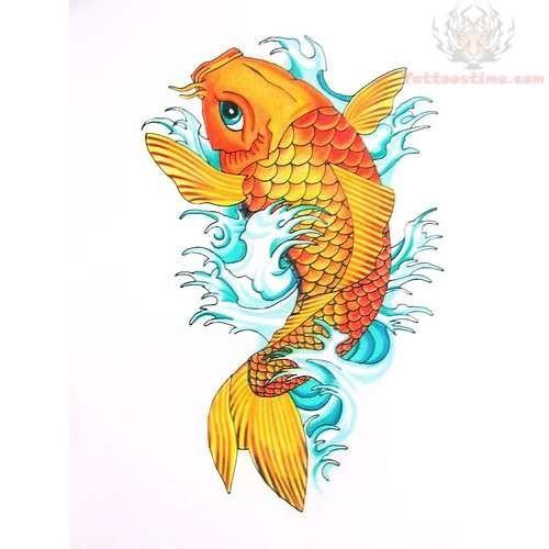 New koi fish tattoo design for Koi fish design