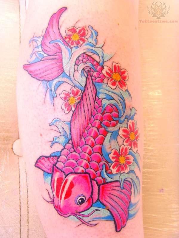 Pink koi tattoo for Pink koi fish