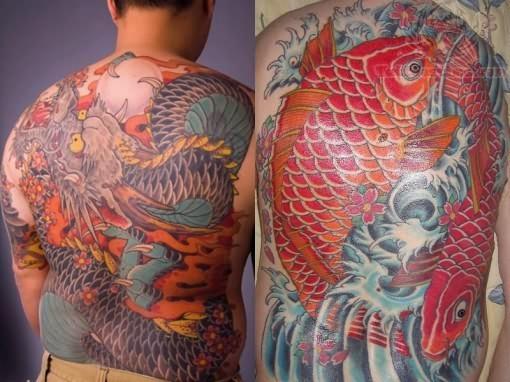 Red color koi fish tattoo for Koi carp tattoo colours