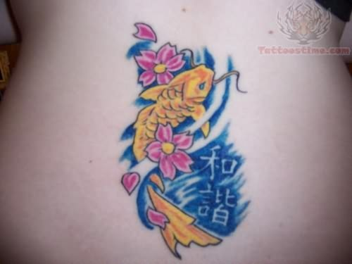 Small koi tattoo for Small coy fish